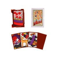 京都・伏見の田村将軍堂の花かるた類は昔からの技法を守り、良質和紙の裏貼紙を使用していますので手ざわり...