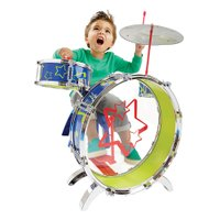 3つのドラムとシンバルがついたドラムセットです。大きなドラムを叩いてみよう!  090050762 ...