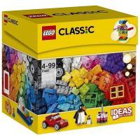 37色のレゴ ブロックがいっぱい詰まったセットで思いつくもの何でも創造しよう!ドア、窓、車輪、目、ロ...