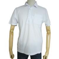 半袖ポロシャツ 鹿の子織り ホワイト HP09