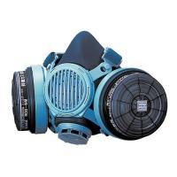取替え式防毒マスク7191DKG-02型(興研) 伝声器付きなので、マスクをしたまま会話や指示が行え...