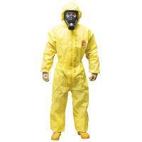 マイクロケム3000 化学防護服/保護服 接合部には強力な超音波溶着を施してあり、広範囲な化学物質に...