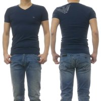 EMPORIO ARMANI UNDERWEAR エンポリオアルマーニアンダーウェア メンズVネックTシャツ 110810 9P745 ネイビー