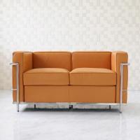 近代建築の巨匠ル・コルビジュエ代表作のひとつ LC2 2人用 総本革アニリンレザー仕様  製作から5...