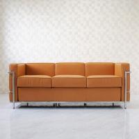 近代建築の巨匠ル・コルビジュエ代表作のひとつ LC2 3人用 総本革アニリンレザー仕様  製作から5...