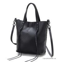 【レベッカミンコフ バッグ】 型番:HU17MUWT95 BLACK 素材:天然皮革/裏地:ヌバック...
