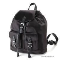 【レベッカミンコフ バッグ】 型番:HF17ESIB60 BLACK 素材:ナイロン/天然皮革 カラ...