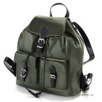 【レベッカミンコフ バッグ】 型番:HF17ESIB60 ARMY GREEN 素材:ナイロン/天然...