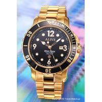アライブ アスレティックス 腕時計 Diver Down Metal Gold サイズ:メンズ ケー...