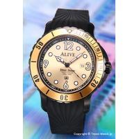 アライブアスレティックス 腕時計 Diver Down Black/Gold サイズ:メンズ ケース...