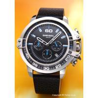 【ディーゼル 腕時計】 サイズ:メンズ ケースサイズ:直径52mm×厚さ15.5mm バンド素材(カ...