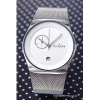 【スカーゲン 腕時計】 サイズ:メンズ ケースサイズ:縦45mm(ラグ部分含む)×横42mm×厚さ8...