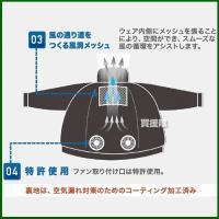 空調 作業 服 充電機器・ファン セット 長袖ワークブルゾン LX-6700W リンクサス COOLING BLAST truetools 05