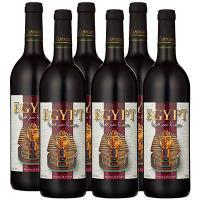 エジプト土産 エジプトお土産 みやげ おみやげ ツタンカーメン 赤ワイン 6本  しっかりとしたぶど...