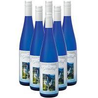 ドイツ土産 ドイツお土産 みやげ おみやげ ドイツ 古城ブルーボトル 白ワイン(袋付) 6本  ノイ...
