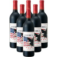 アメリカ土産 アメリカお土産 みやげ おみやげ アメリカンイーグル 赤ワイン 6本  アメリカの象徴...