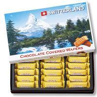 スイス土産 スイスお土産 みやげ おみやげ スイス チョコレートウエハース 1箱  マッターホルンに...