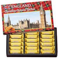イギリス土産 イギリスお土産 みやげ おみやげ イギリス チョコウエハース 1箱  タータンチェック...