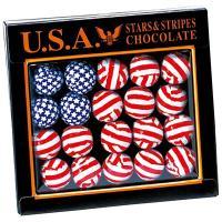 アメリカお土産 アメリカ土産 アメリカおみやげ/フラッグチョコレート 1箱/アメリカお土産チョコレー...