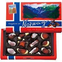 ノルウェー土産 ノルウェーお土産 みやげ おみやげ ノルウェー シーシェルチョコレート 1箱  ヘー...