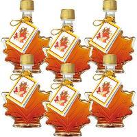 カナダ土産 カナダお土産 みやげ おみやげ カエデ形 ミニメープルシロップ 6瓶  メープルリーフの...