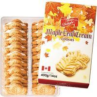 カナダ土産 カナダお土産 みやげ おみやげ カナダ メープルクリームクッキー 1箱  カナダお土産お...