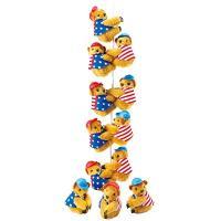 アメリカ土産 アメリカお土産 みやげ おみやげ ひっつきベア 12匹セット  星条旗を着たクマさんが...