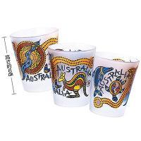 オーストラリアお土産 オーストラリア土産 オーストラリアおみやげ/アボリジニ ショットグラス 3コセ...