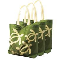 ハワイ土産 ハワイお土産 みやげ おみやげ フラレフア エコバッグ(グリーン) 3枚  日本では「お...