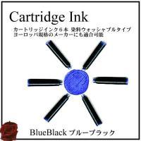 万年筆カートリッジインク6本セットです。 インクの消費量の50%を占めるブルーブラックインクは日光や...
