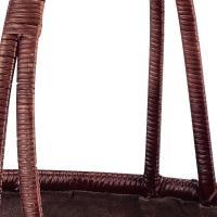 『竹』布付き楕円型バッグ「39×36×28.5cm」
