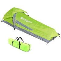 ソロキャンプにおすすめテント  誰でも簡単、瞬時に設営できるワンタッチソロテント。テント上部のジョイ...