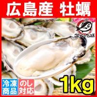 【広島産カキ】大粒Lサイズの牡蠣がたっぷり1kg  殻剥き不要&小さくならない加熱用で濃厚な風味です...