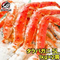 タラバガニ たらばがに 特大 極太 5L 1kg ×2肩 セット 合計 2kg 前後 足 脚 肩 セクション 正規品 かに カニ 蟹 ボイル 冷凍 かに鍋 焼きガニ