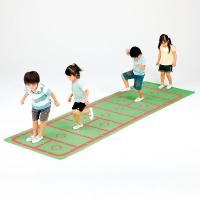 さっと敷くだけで遊びから体力増強ができる滑り止め加工付ケンケンパー遊びシートマット  ケンケンパー遊...