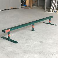 自由に持ち運び可能なスケートボードストリートセクションフラットレール! たっぷり滑れる長さ2m、上面...