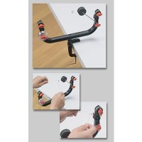◆テンションバーを引き上げるとラインにテンションを掛けることができるので、作業がしやすく、編み込みを...