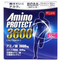 エムズワン アミノプロテクト レモンフレーバー 顆粒 スティック (4.5g×30本入) アミノ酸3...