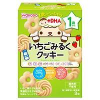 和光堂 1歳からのおやつ +DHA いちごみるくクッキー 1歳頃から (16g×3袋) ベビーおやつ ※軽減税率対象商品
