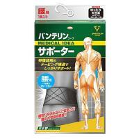 興和新薬 バンテリンコーワサポーター 腰用 男女兼用 ゆったり大きめ LLサイズ ブラック (1枚) サポーター