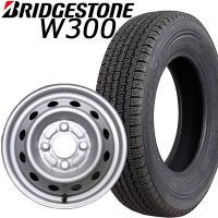 BRIDGESTONEブリヂストン スタッドレス 「W300 145R12 6PR」と 「スチールホ...