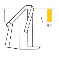 袖丈を(縦の長さ)調整します。通常袖の単衣着物  振袖などの着物で袖生地が長い場合は生地をカットしま...