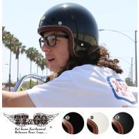 装飾用ヘルメット 500-TX マシニングレザーリムショット ブラウンレザー スモールジェットヘルメ...