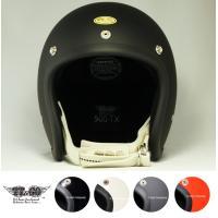 500-TX スモールジェットヘルメット ダブルストラップ仕様 アイボリーレザー  日本産クロム鞣し...