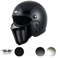 脱着可能なマスクが付いたジェットヘルメットです。 別売りのシールドをボルトオンで装着出来ます。  テ...