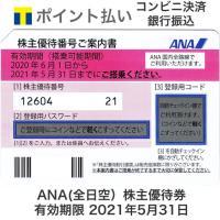 ANA(全日空)株主優待券 有効期限2021年5月31日 ※2021年11月30日まで延長となりました。