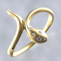 [商品名] ポンテヴェキオ スネーク リング [形状]リング [素材] K18YG/5Pダイヤモンド...