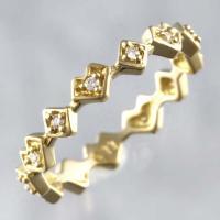 [商品名] アーカー ダイヤモンド リング [形状]リング [素材] K18YG/ダイヤモンド0.1...