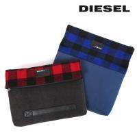 ディーゼル DIESEL クラッチバッグ 鞄 メンズ チェック柄 デニム切替 PCクッションポケット D-CHECK CLUTCH