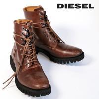 ディーゼル DIESEL レースアップブーツ 靴 シューズ メンズ ヴィンテージ加工 キズ加工 スムースレザー 本革 D-DEPP